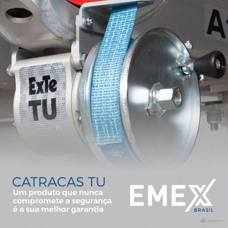 catracas TU Emex para transporte de cargas e madeira